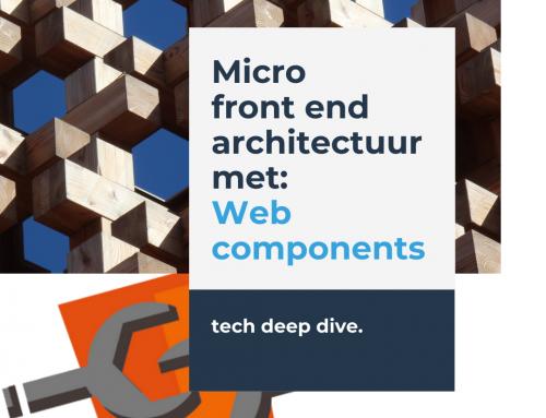 Micro front end architectuur met web components